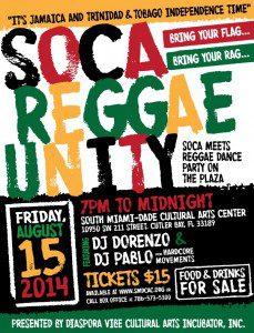 Soca Reggae Unity Dance Party