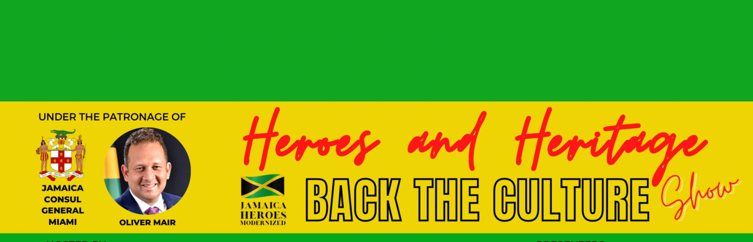 Jamaica CG Miami and Jamaica Heroes Modernized partner to commemorate Jamaica's Heritage Month and National Heroes Day on Oct 17, 2021.